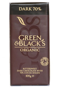 Green and Blacks Organic Dark Chocolate